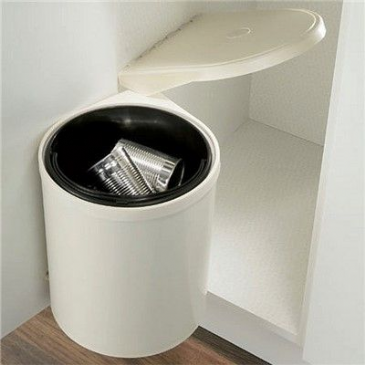 KITCHEN SWING OUT WASTE BIN 10LTR CREAM
